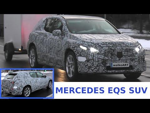 Mercedes Erlkönig EQS SUV prototype close up * Nahaufnahme Ampelstart * 4K SPY VIDEO