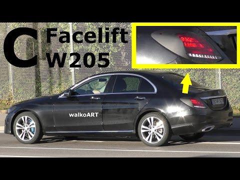 Mercedes Erlkönig C-Klasse C-Class Limousine W205 2018 Facelift neue Rücklichter - New taillights