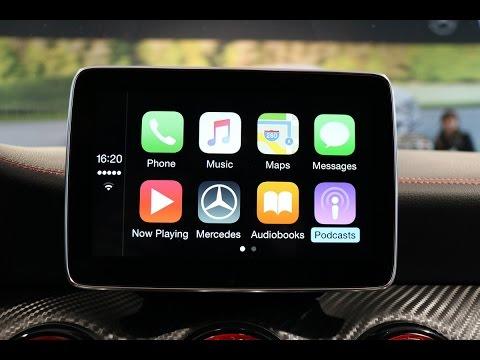 Apple CarPlay in der neuen Mercedes-Benz A-Klasse 2015 Test Check - Test - Review - Hands on