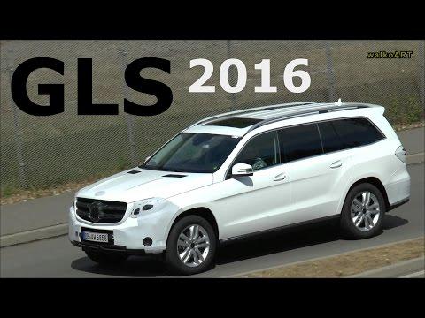 Mercedes-Benz GLS Erlkönig 2016 in weiß, Facelift Mercedes GL X166 Prototype SPY VIDEO