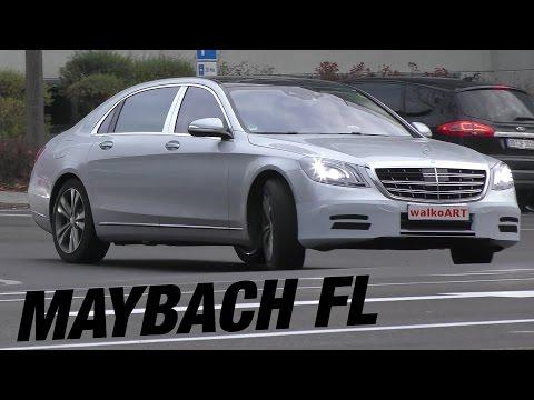 Mercedes Erlkönig Mercedes-Maybach S650 ? Facelift 2017 X222 Modellpflege SILVER 4K-SPY VIDEO