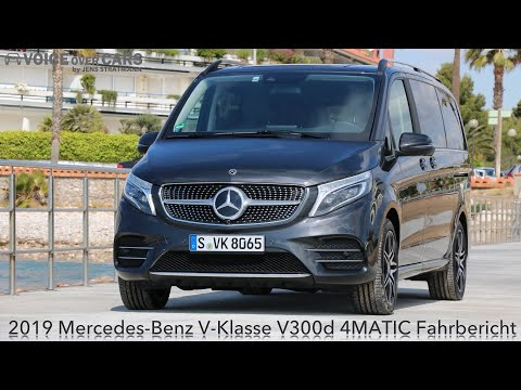 2019 Mercedes-Benz V-Klasse V300d 4MATIC Fahrbericht Test Review Kritik   Voice over Cars Deutsch
