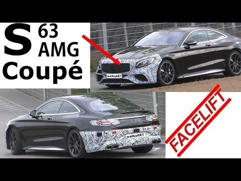 Mercedes Erlkönig Mercedes-AMG S63 Coupé C217 Facelift S-Class Coupé AMG 2018 SPY VIDEO