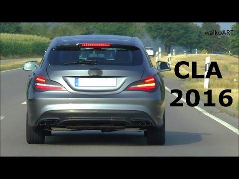 PREMIERE Erlkönig Mercedes CLA Shooting Brake Facelift 2016 Prototype X117 on the road SPY VIDEO