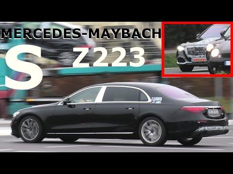 Mercedes Erlkönig Maybach S X223 fast ungetarnt * almost uncamouflaged * 4K SPY VIDEO