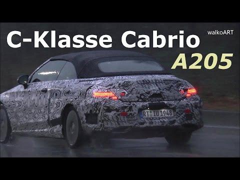 Mercedes Erlkönig C-Klasse Cabrio 2016 im Regen / 2017 C-Class Cabriolet prototype A205 in the rain