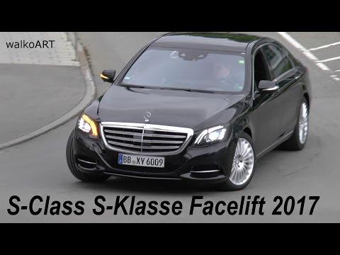 Mercedes Erlkönig S-Klasse Facelift W222 von oben fast ungetarnt S-Class 2017 nearly undisguised
