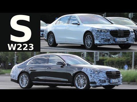 Mercedes Erlkönig S-Class S-Klasse 2020 * W223 weniger getarnt * less camouflaged * 4K SPY VIDEO
