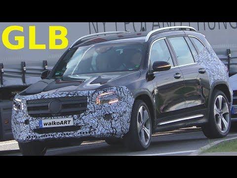 Mercedes Erlkönig - GLB X247 weniger getarnt - GLB less camouflaged 4K SPY VIDEO