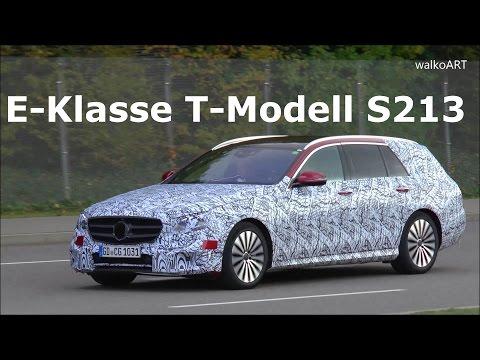 Mercedes Erlkönig E-Klasse T-Modell 2016 Mercedes Prototype E-Class wagon / estate 2017 SPY VIDEO