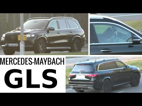 Mercedes Erlkönig Maybach GLS ungetarnt -black Maybach GLS undisguised * 4K SPY VIDEO