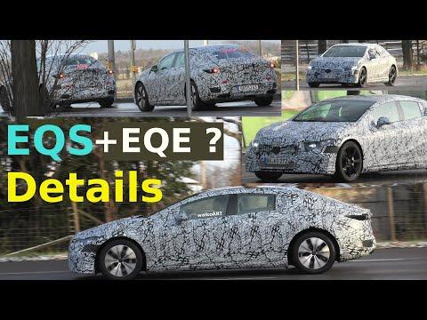 Mercedes Erlkönig * EQE (V295) + EQS DETAILS #EQS #EQE slightly changed camouflage * 4K SPY VIDEO