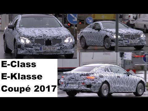Mercedes Erlkönig E-Klasse Coupé C238 W213 2017 E-Class Coupe Mercedes Prototype in motion SPY VIDEO