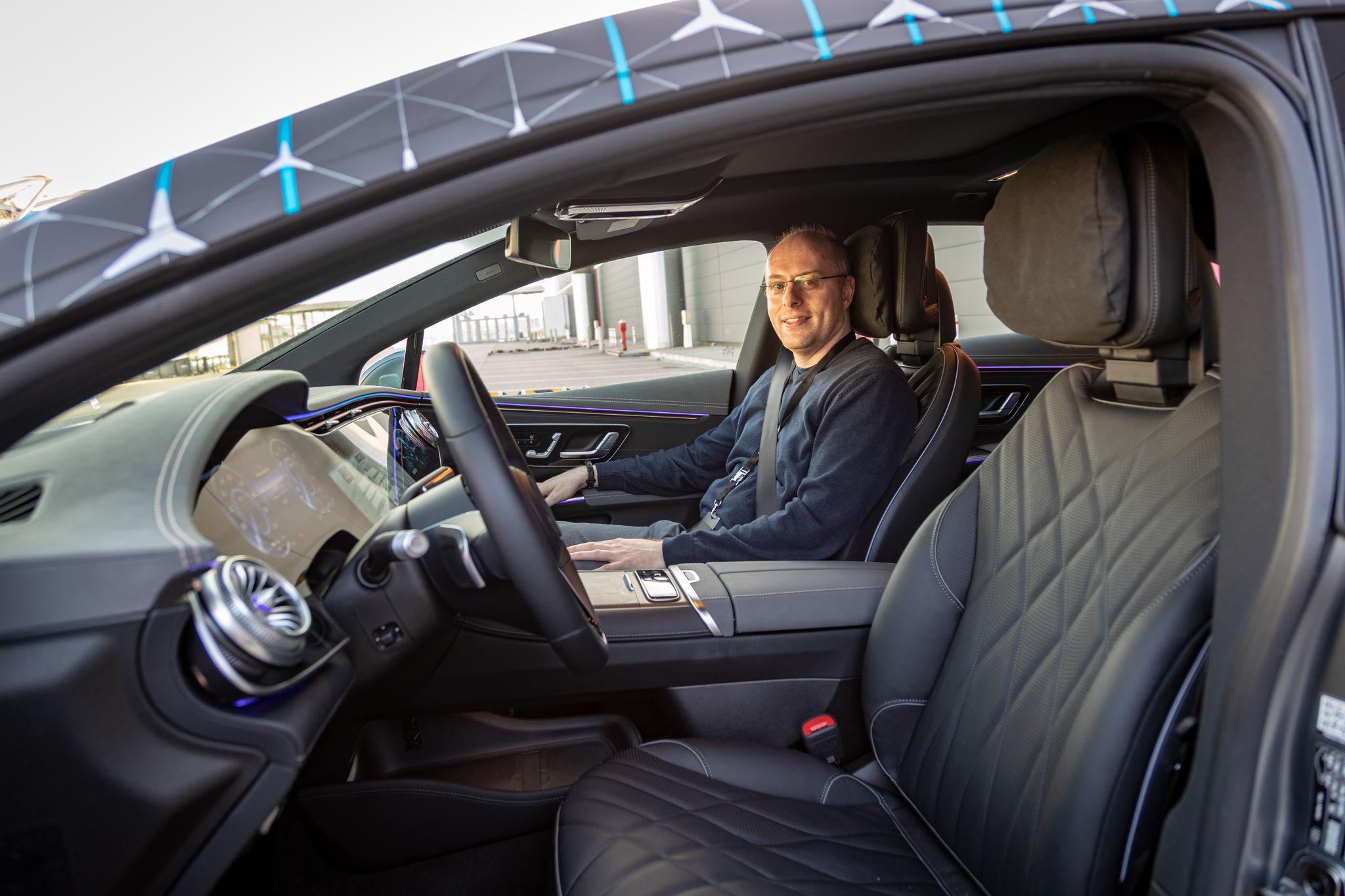 Erster Eindruck vom EQS: Mitfahrt im künftigen Luxus-Elektroauto von Mercedes