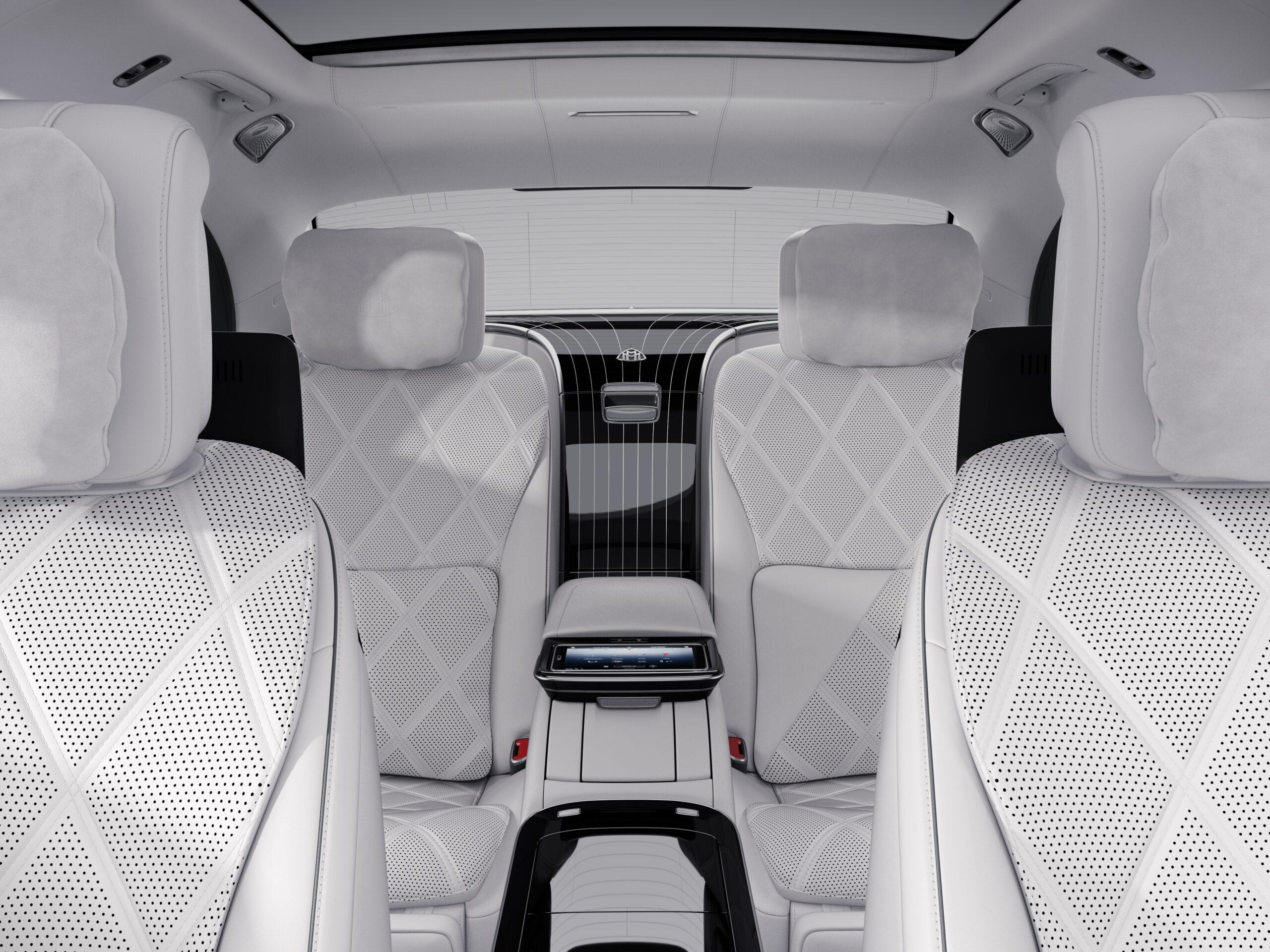 Blick auf das First-Class Fond der neuen Mercedes-Maybach S-Klasse