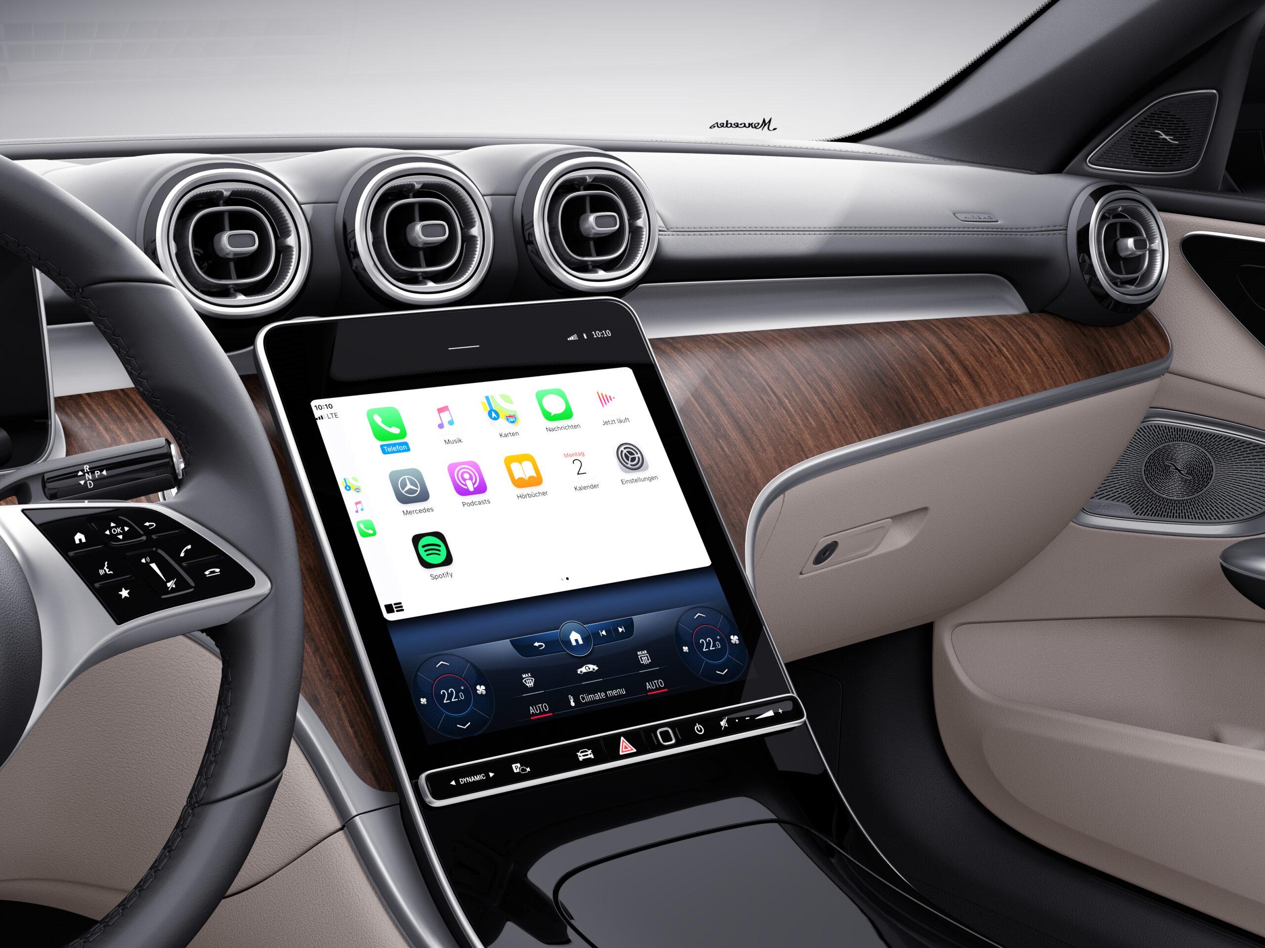 Apple-CarPlay-und-Android-Auto-in-der-C-Klasse-kabellos