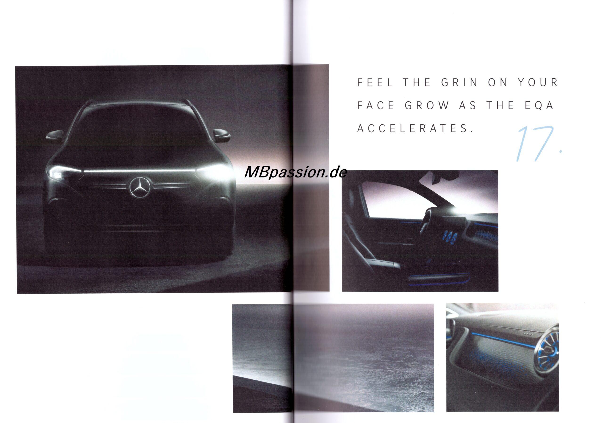 Mercedes-Benz teasert EQA vorab der Weltpremiere am 20. Januar erneut an