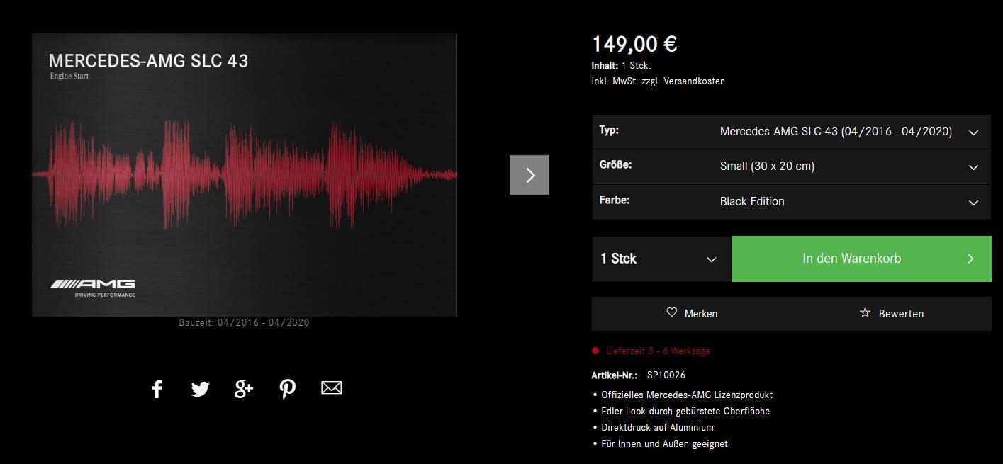 AMG Soundprint machen den AMG Sound nun auch sichtbar