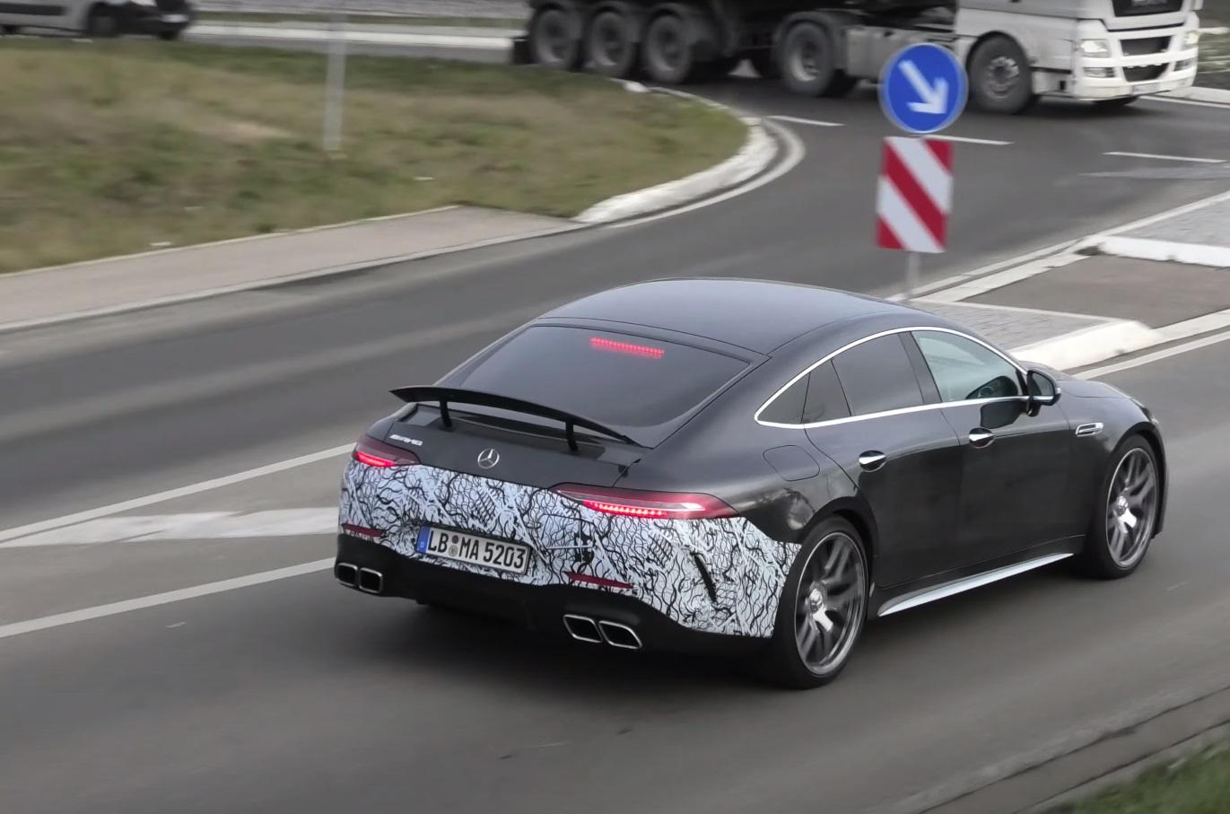Erlkönig: AMG GT 73 e Plug-In Hybrid Testträger erwischt
