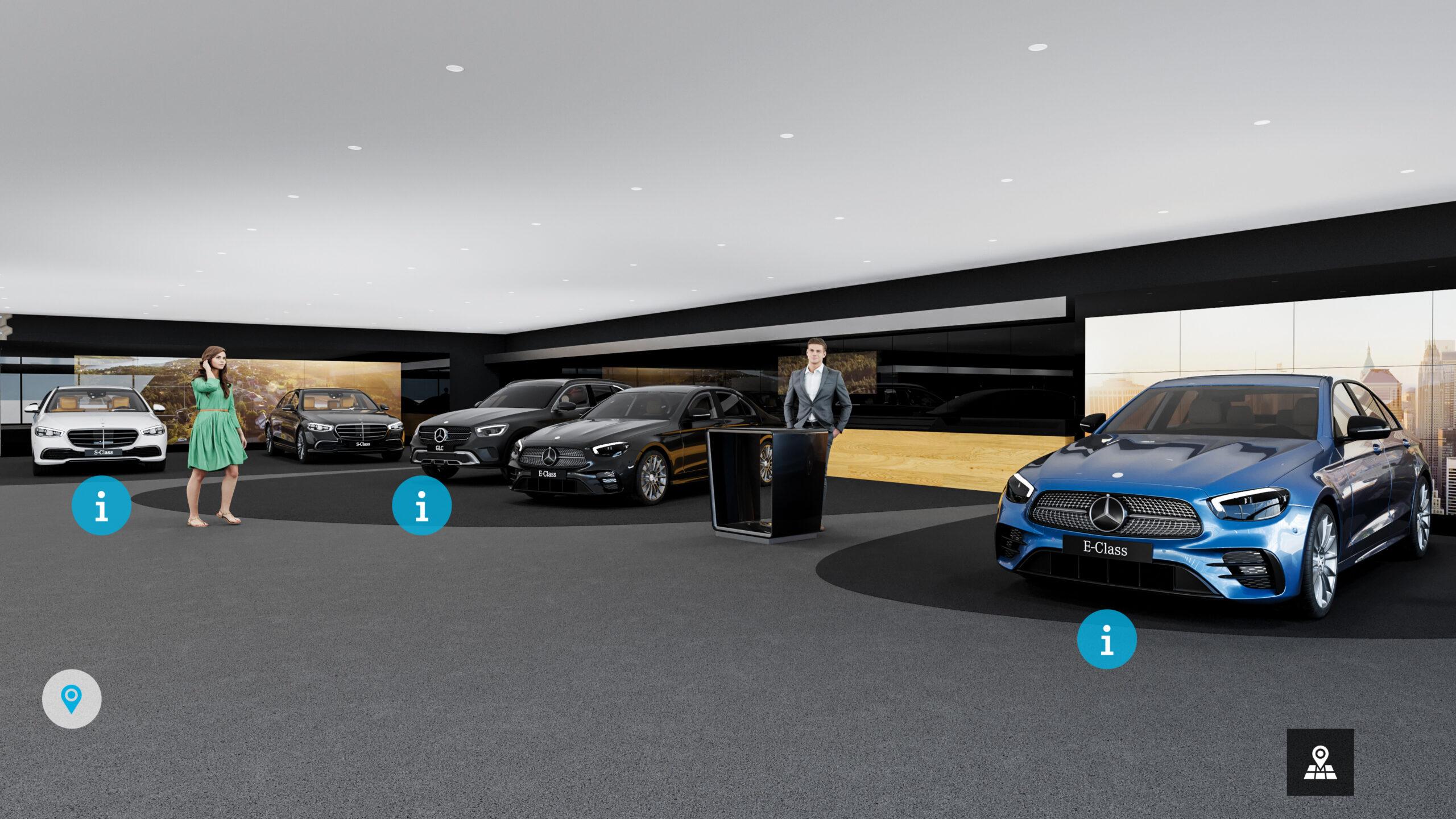 Virtueller Showroom von Mercedes-Benz Belgien gestartet
